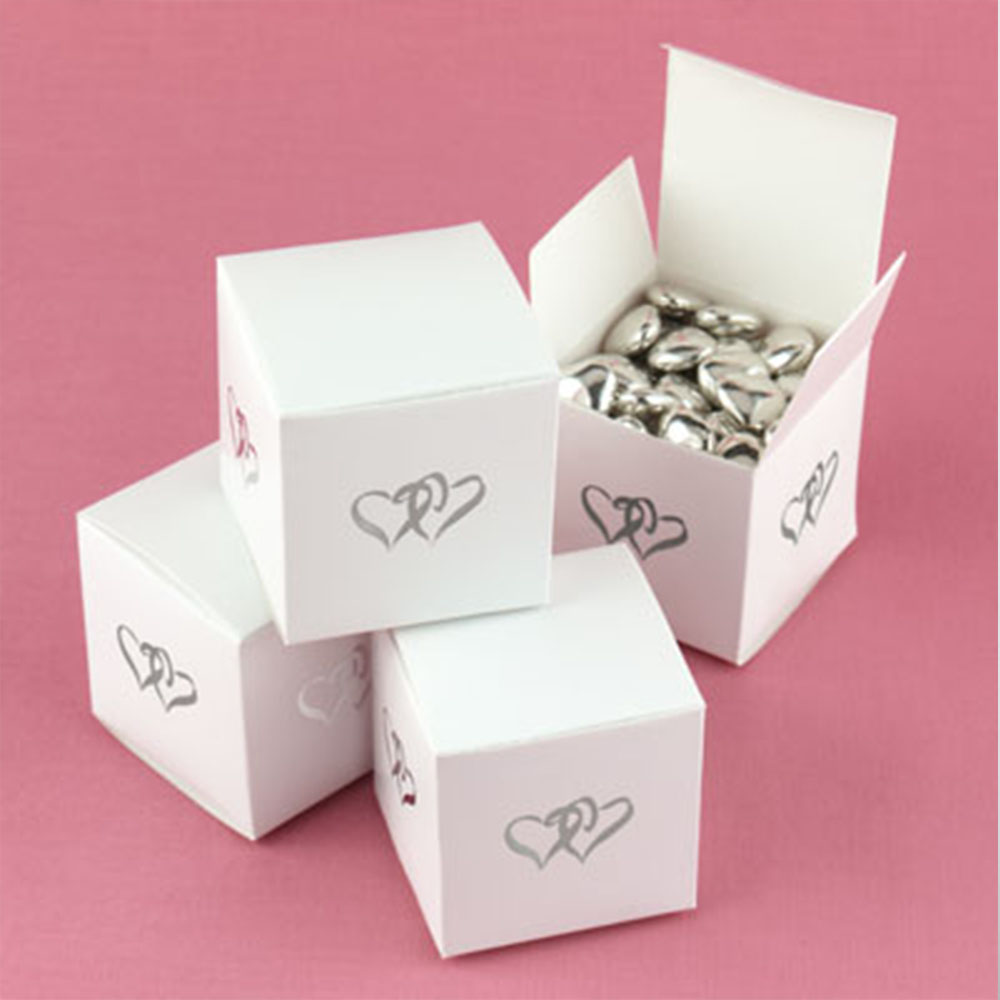 Wedding Favour box with Love Hearts (Pack of 50)