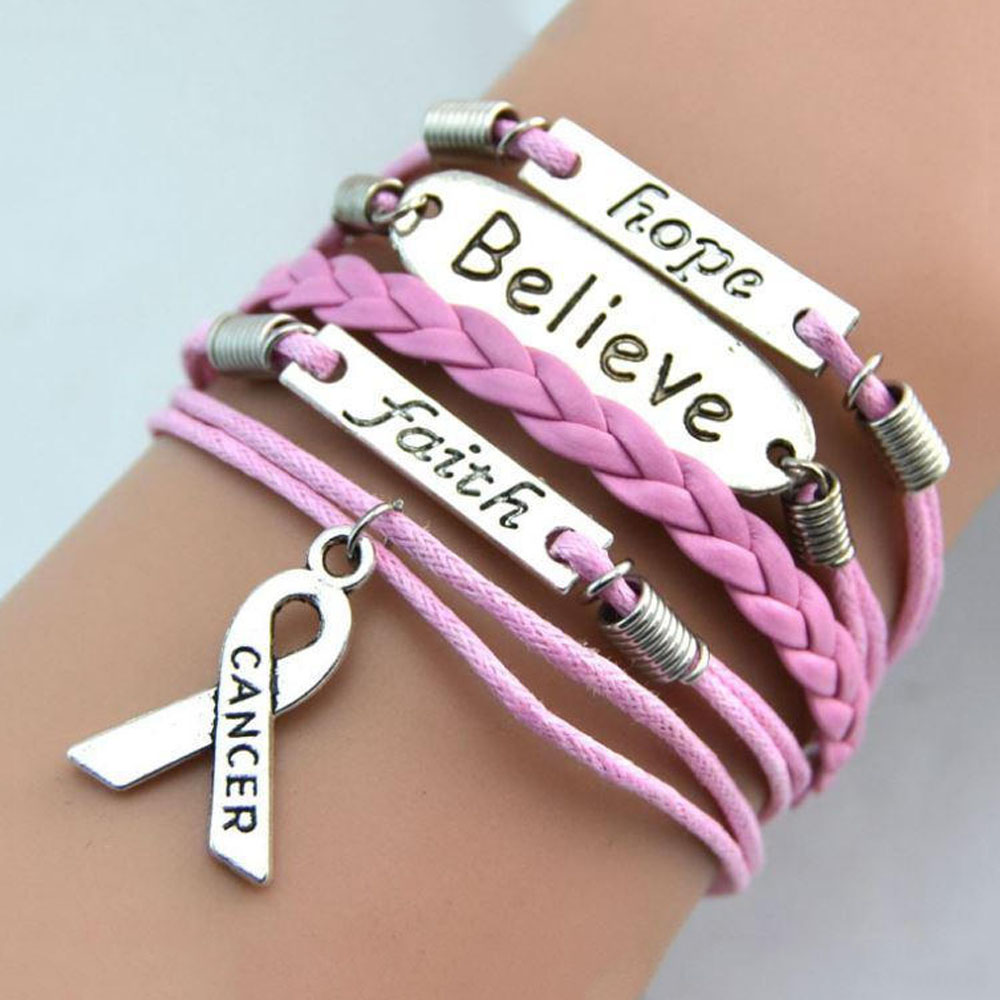 Apologise, pink breast cancer band bracelets
