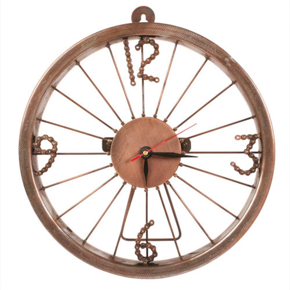 Bike Wheel Clock With Bike Chain Numbers
