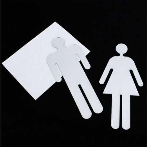 3D Man  Woman Bathroom Toilet Signs_500x500