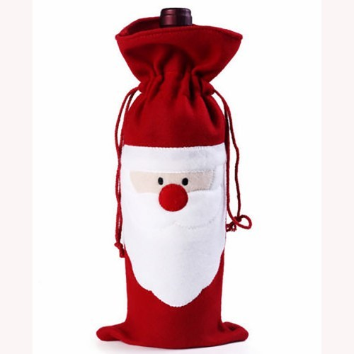 Felt Santa  Christmas Wine Bottle Cover_500x500