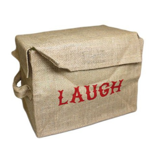 Storage Box with Laugh Written On
