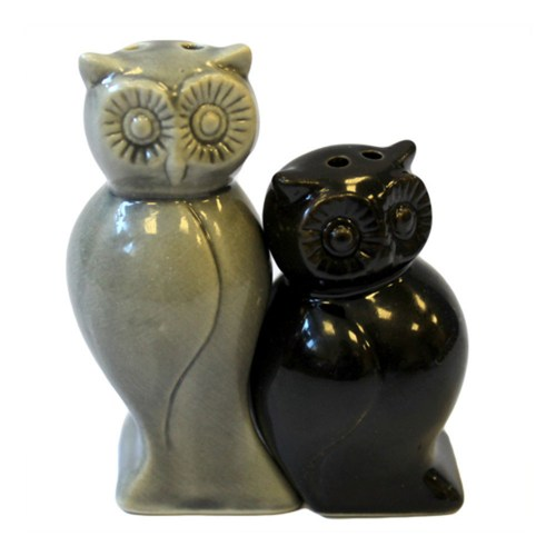 Owl Salt And Pepper in Grey & Black