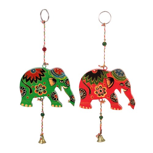 Image of Indian Elephant Chime With Bell