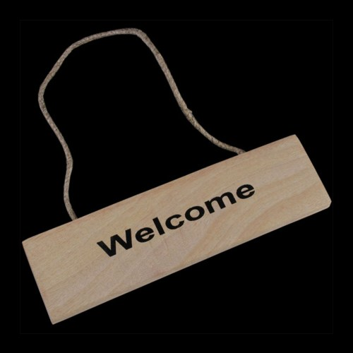 Wooden Welcome Plaque / Sign