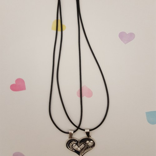 I Love You Necklace Pendants Black