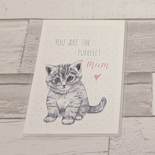 Purrfect Mom Card
