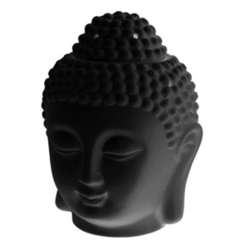 Thai Buddha Head Oil Burner - Black_500x500