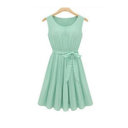 green dress with belt8
