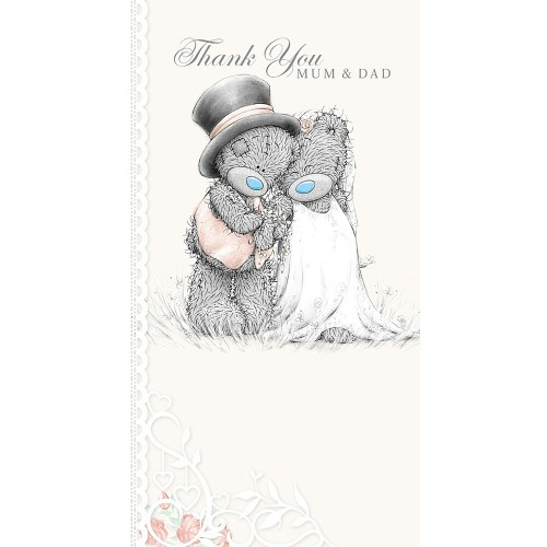 thank you mum and dad wedding card