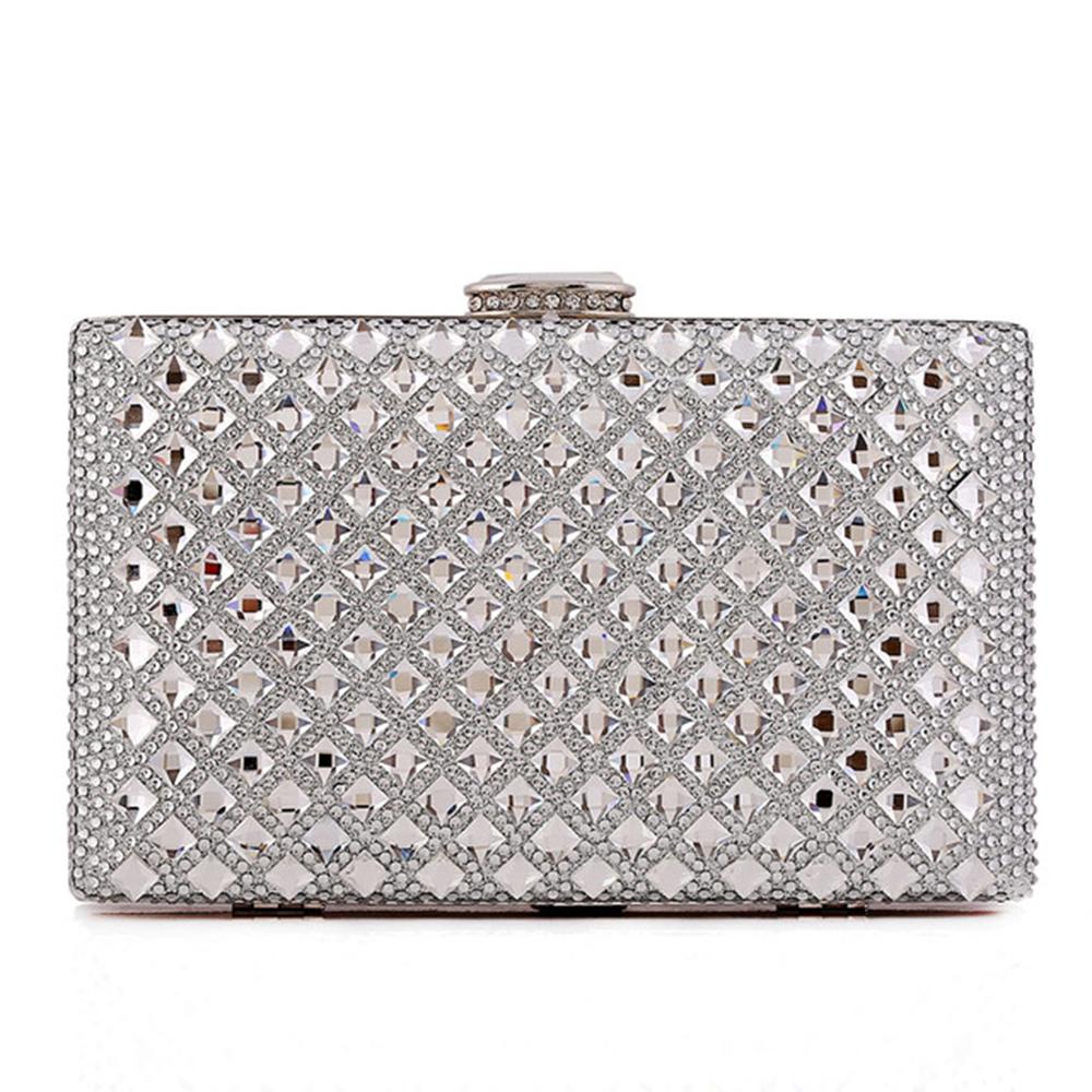 Sparkling Silver Silvers: Sparkling Silver Clutch Bag