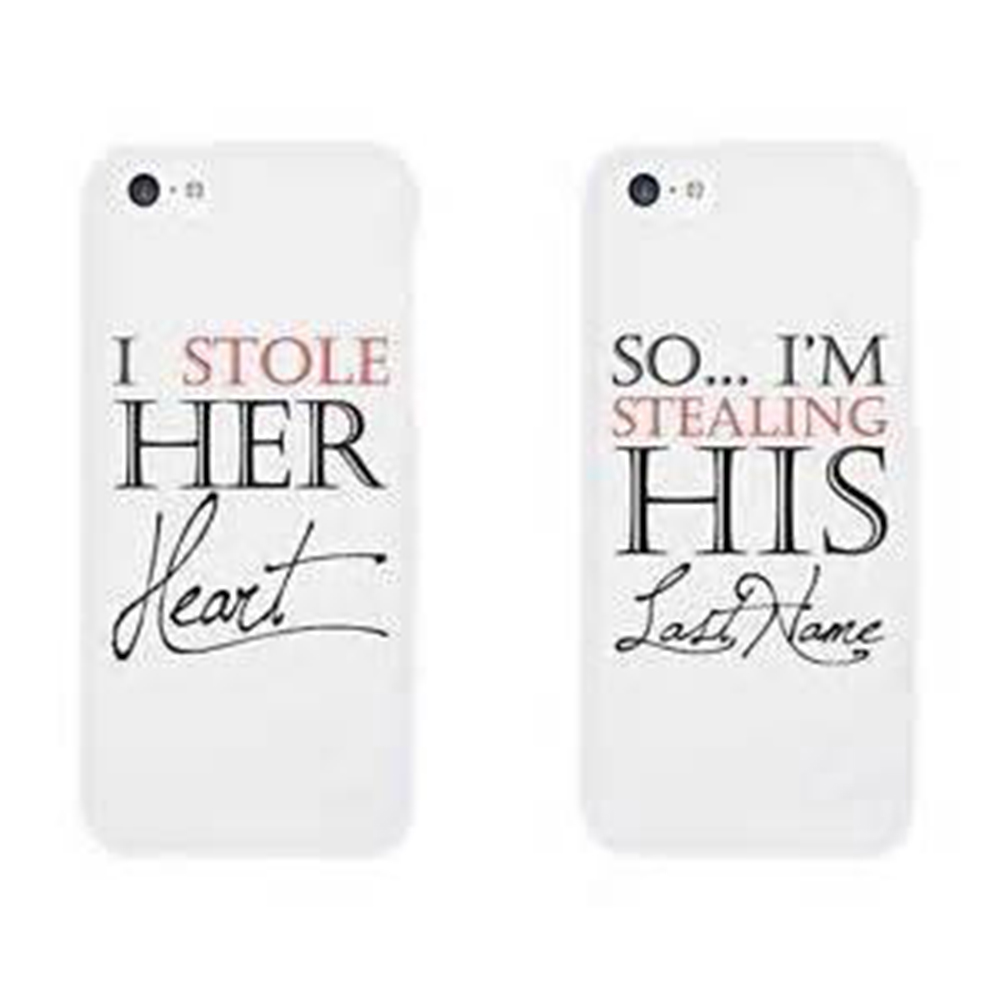 uk availability 49bae d111a iPhone 6 Plus Couple Cases I Stole Her Heart So I'm Stealing His Last Name